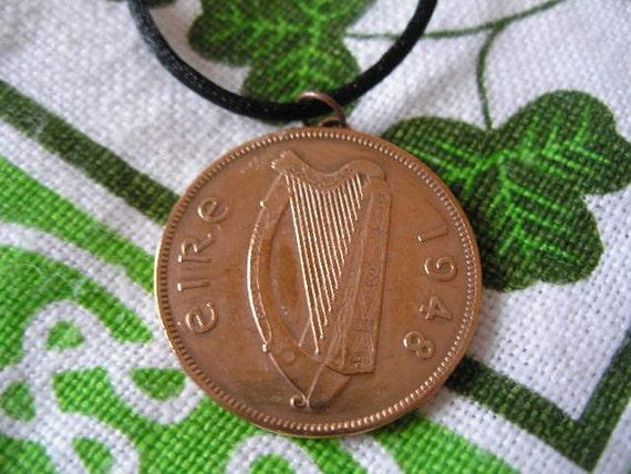 1948 Irish Penny Coin Birth Year Necklace