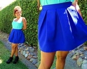 Varsity Blue Pleated Skirt