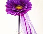 Purple Daisy Flower Wand, perfect for flower girls and garden parties