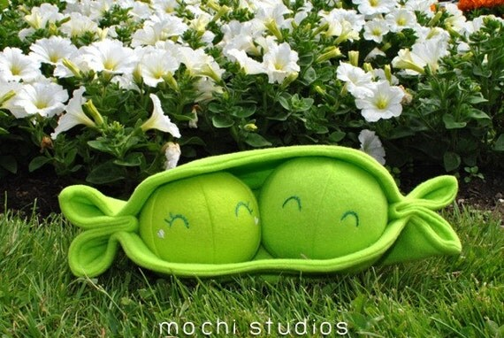 Items Similar To Two Peas In A Pod Plush On Etsy