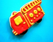 Fire Truck, Firefighter engine cookie favors