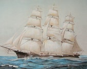 On the High Seas, Original Pastel Drawing