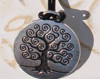 Handmade Jewelry Necklace Tree of Life Silver Plated Pewter