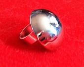 Handmade silver 'mushroom' ring