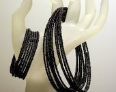 Black Seed Bead Necklace Wrap and Bracelet Wrap