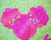 Pom-Poms - Pink and Green Quilt