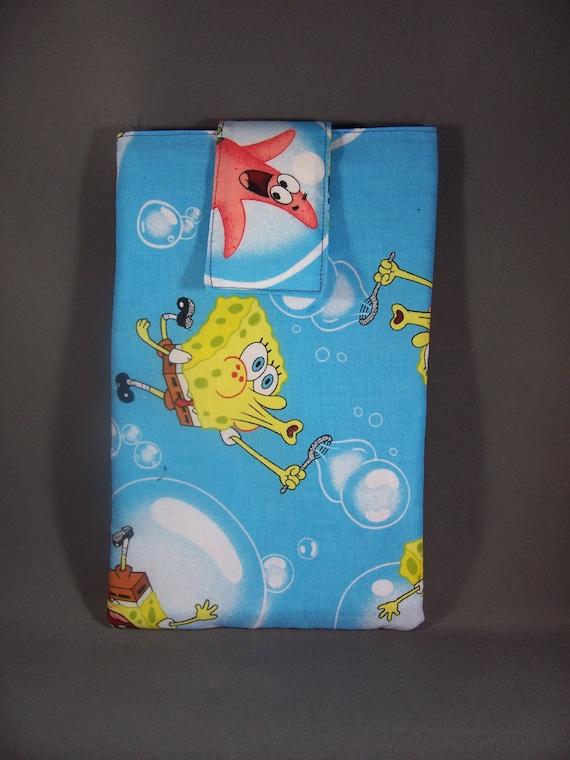 "Light Blue SpongeBob Square Pants & Patrick  E-reader  7 inch Tablet Pouch SLEEVE- ""HOLIDAY PRICE 10 bucks"""