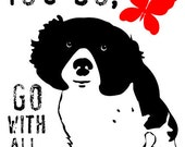 Cocker Spaniel Art, Wall Decor Go With All Your Heart, Dog Art Print