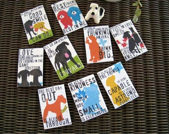 Dog Lover Magnet 1 of Your Choice of ANY Dog Design in my Shop