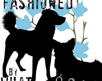 Inspirational Wall decor Australian Shepherd Art Print with a Mixed Breed Dog