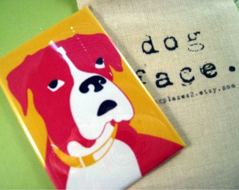 Boxer Dog Face Pocket Mirror 2 x 3 includes Gift Bag