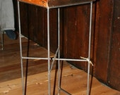 Reclaimed Wood and Steel Bar Stool