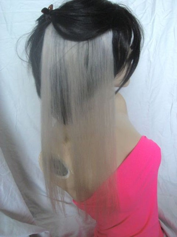 18 INCH Silver White Ash Blonde Human Hair Extension