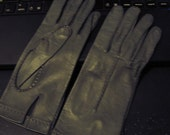 Vintage softest Mousy Gray leather unlined gloves for delicate hands