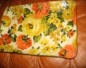 70s fab fabric tray floral flowers pattern retro palette