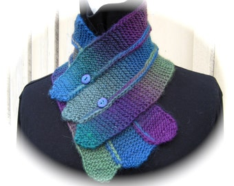 PRISKA,  Cowl and Scarf  knitting pattern PDF
