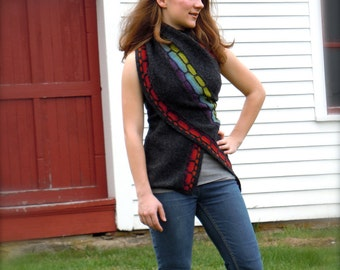 Impavido, shawl, stole, wrap knitting pattern PDF