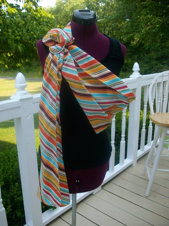 Bright Stripes Ring Sling with Matching Blanket/Nursing Cover