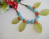 FREE SHIPPING Tropical style colorful necklace