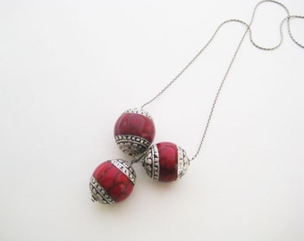 Beaded Trio-logy necklace