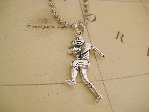 For the football lovers necklace