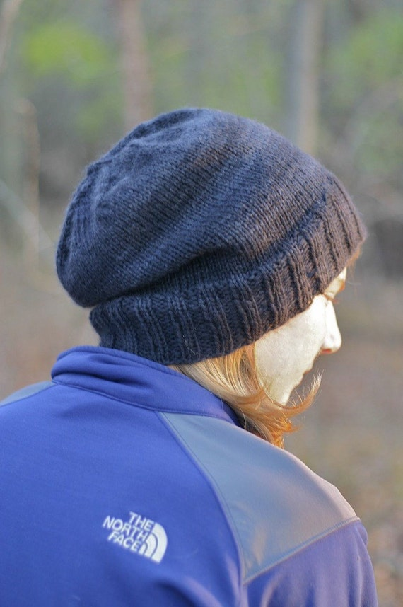 Mens Slouchy Beanie Knitting Pattern : Knitting Pattern - Kendall Slouchy Beanie - Hipster - Knit Hat - Cap - Men - ...