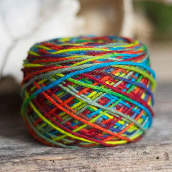 Hand Dyed Yarn - Worsted Weight - Tulip Fields