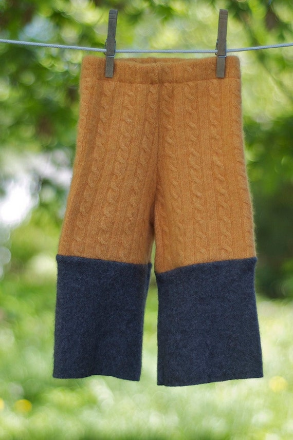 Upcycled Wool Longies - Cloth Diaper Cover - Wool Soaker - Wool Pants - Oriole