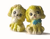 RESERVED FOR L.A.JET  Vintage Salt Pepper Shakers - Kitsch Yellow Dogs