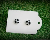 soccer ball pierced earrings