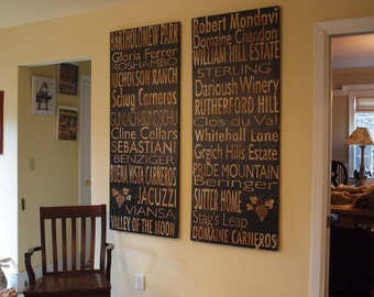 Winery Board - Napa Valley OR Sonoma Valley OR Custom - Salvaged Wood - 24x60 - Bus Roll Inspired - RuPiper Designs Original