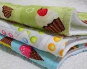 Sweet Stuff - Best Burp Cloth Ever - Designer Cotton - Gift Pack