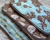 Blue & Brown - Best Burp Cloth Ever - Designer Cotton - Gift Pack