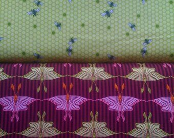 Flora and Fauna- Hive and Luna Moth- Half Yard Bundle
