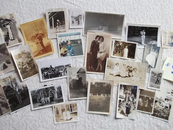 SALE PRICE - Vintage Black and White Photo Grab Bag - Dates Pre-1950's