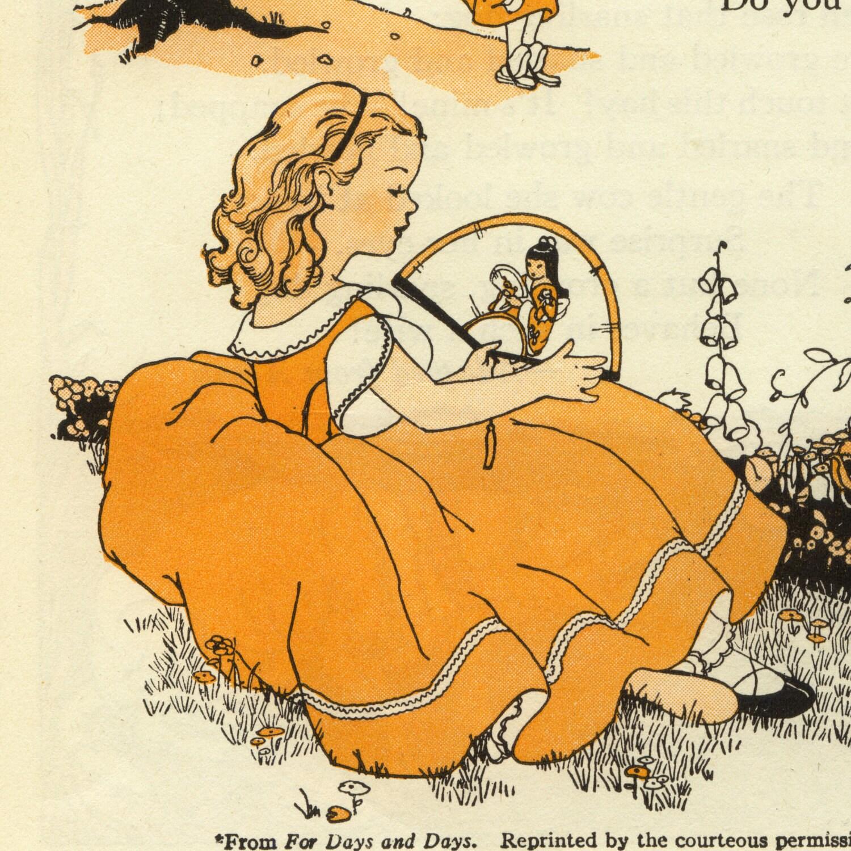 Old Book Illustrations: Vintage Illustration From Children's Book Little