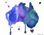 Watercolor Travel Illustration - Australian Dreams print