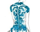 Watercolor Fashion Illustration - Backstage print