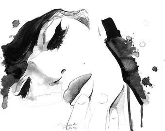 Watercolor and Pen Fine Art Print, Jessica Durrant - Untitled
