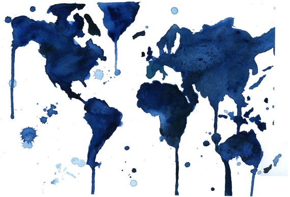 Watercolor World Map It 39 s a Blue Blue World