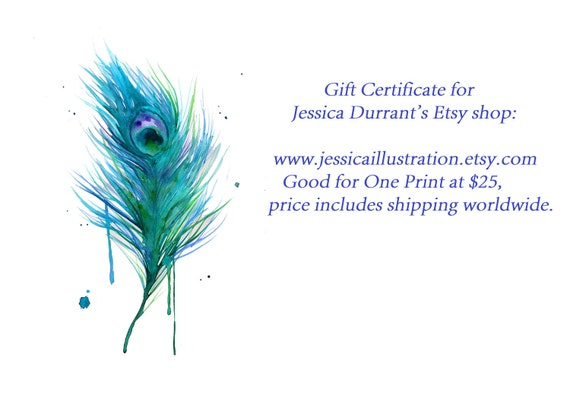 GIFT CERTIFICATE for JessicaIllustration