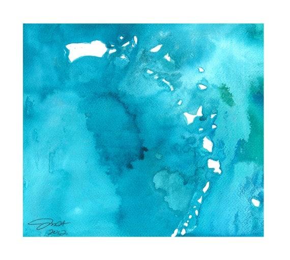 Watercolor Caribbean Map, Jessica Durrant, I love the Carribean print