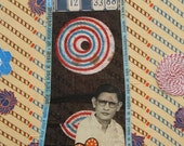 Prime . . . .mixed media collage with Indian fabric