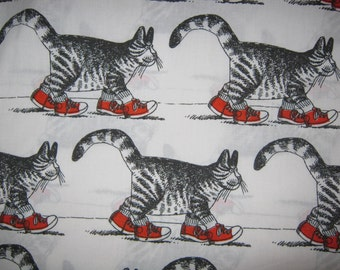 Vintage Klibans Cats QUEEN Flat Sheet