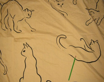 Reserved SARA Queen  vintage Fitted    bed sheet Those Darn Cats Alex West