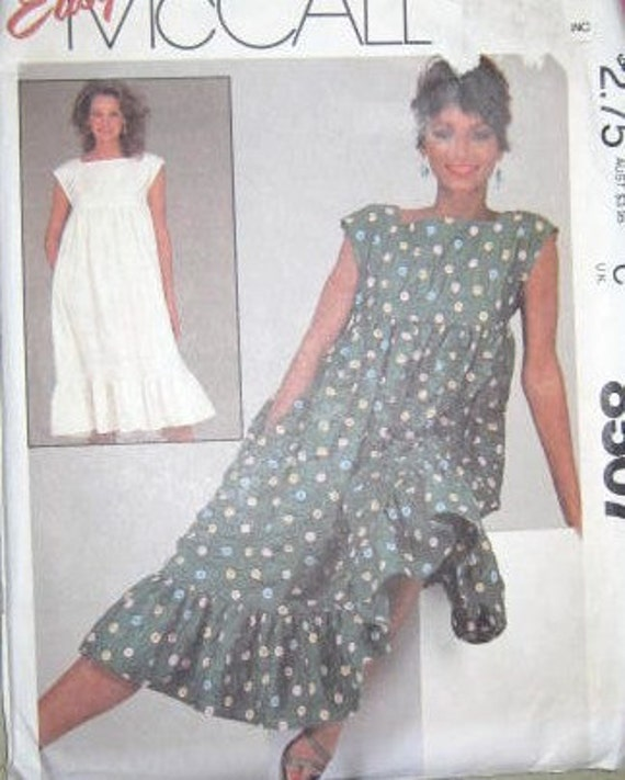 McCalls 8507 misses cute pullover dress pattern size med