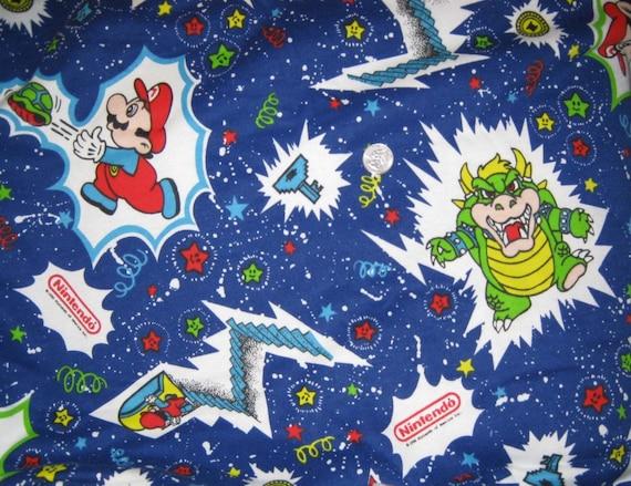 Vintage Fabric Nintendo Super Mario Bros 2 50 Yards 62 Inch