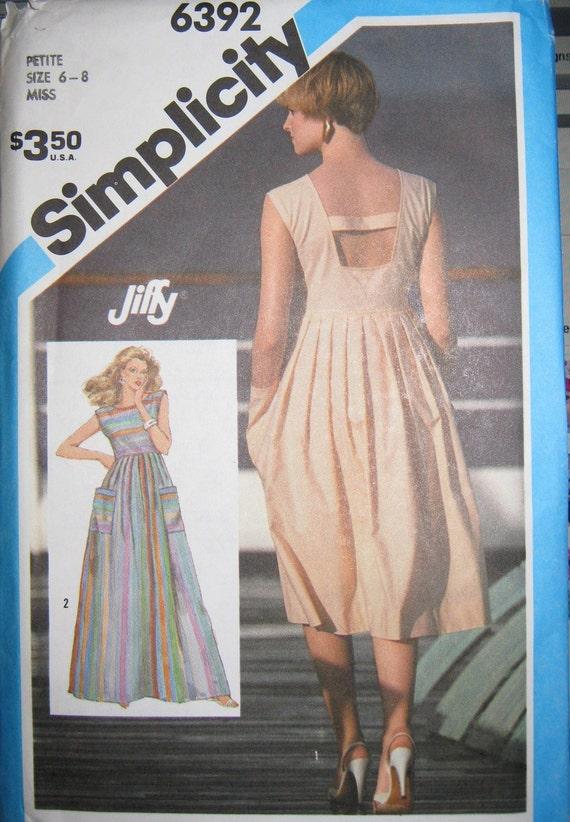 summer dress and caftan patten  size 6  8  10 Simplicity 6392