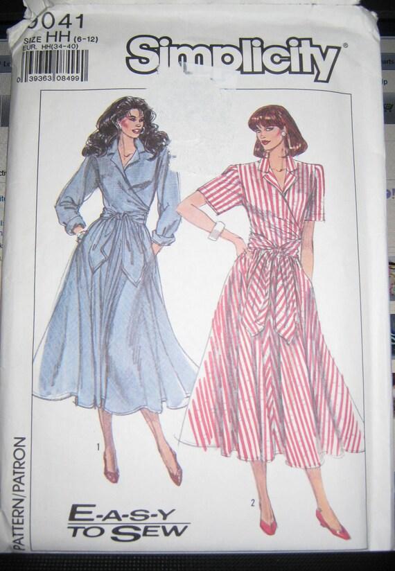 vintage wrap dress  pattern  size 6 8 10 12  Simplicity 9041