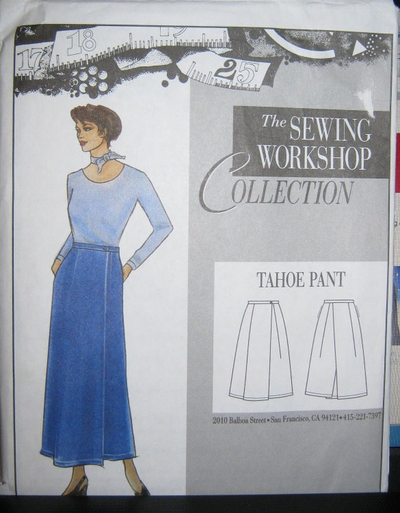 The Sewing Workshop Tahoe Pant pattern  size 8 10 12 14 16 18 20